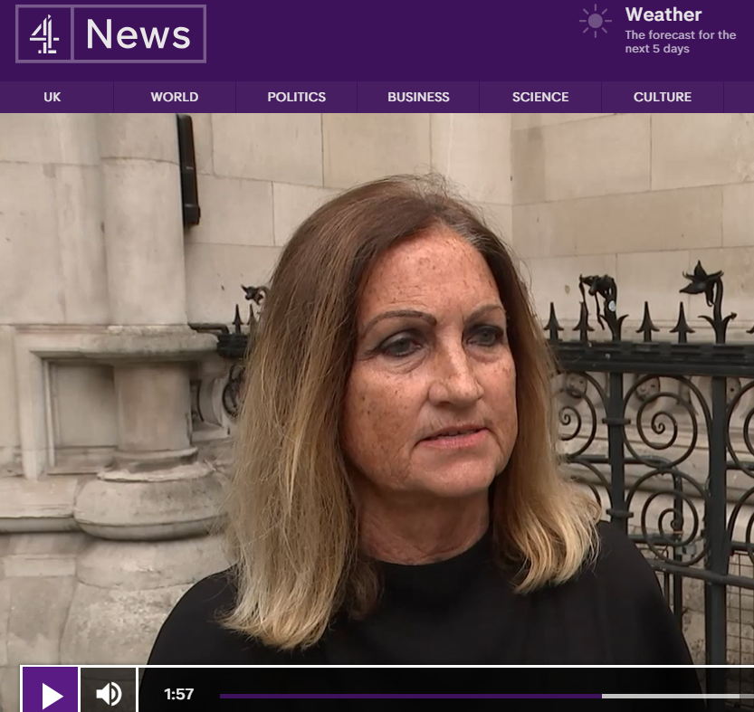 Celia Clarke, Director of BID, is interviewed for Channel 4 News about this case