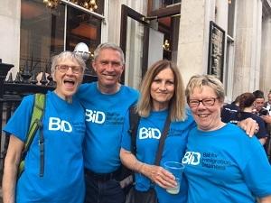 BID team of walkers