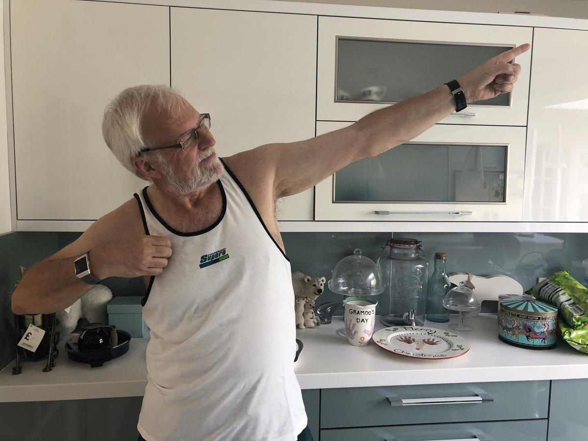 Clive runs kitchen marathon