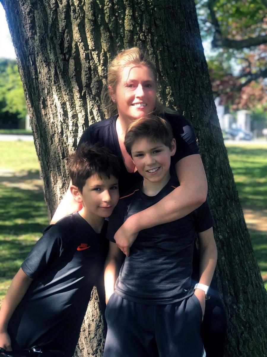 Emily, James and Tommy run marathon around Richmond Park