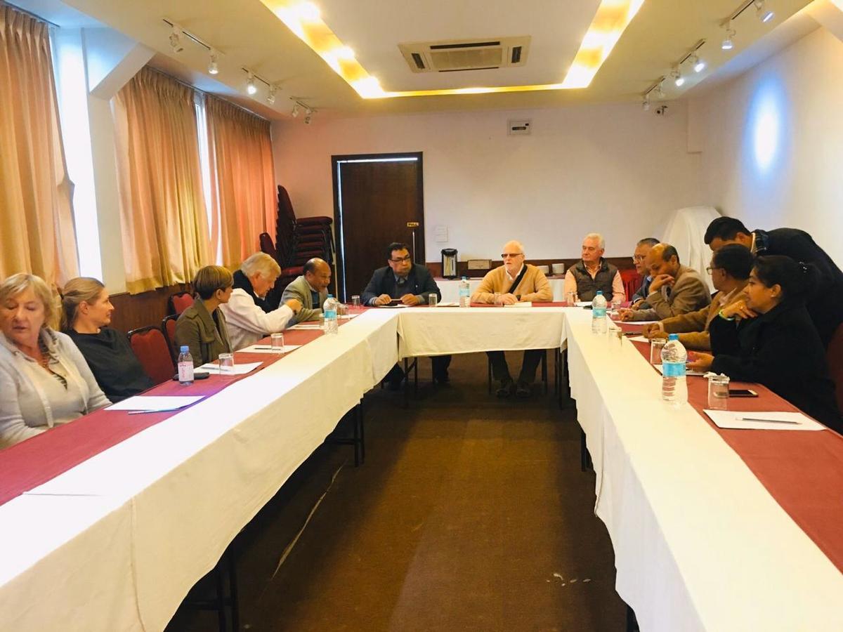 Team meeting in Kathmandu