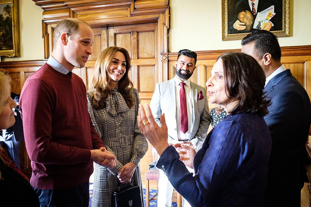 Adeeba Malik CBE meets Duke and Duchess of Cambridge, in Bradford.