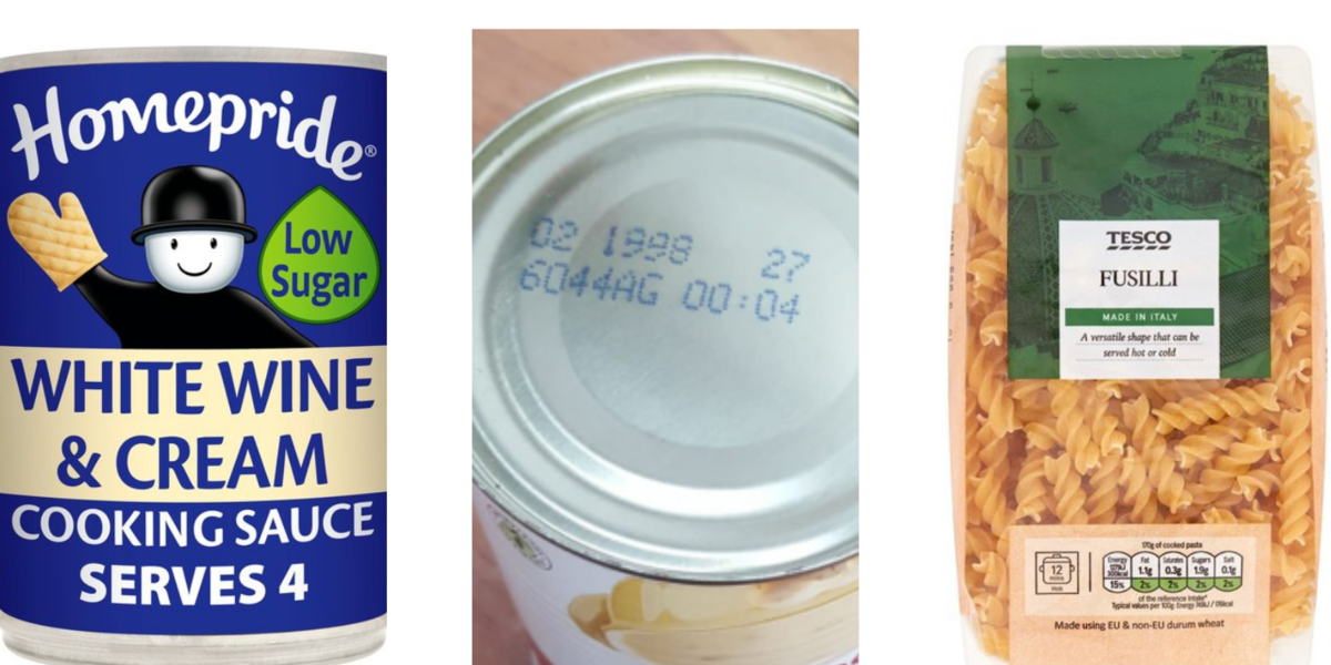 Items we do not require , pasta, alcohol items and items out of date