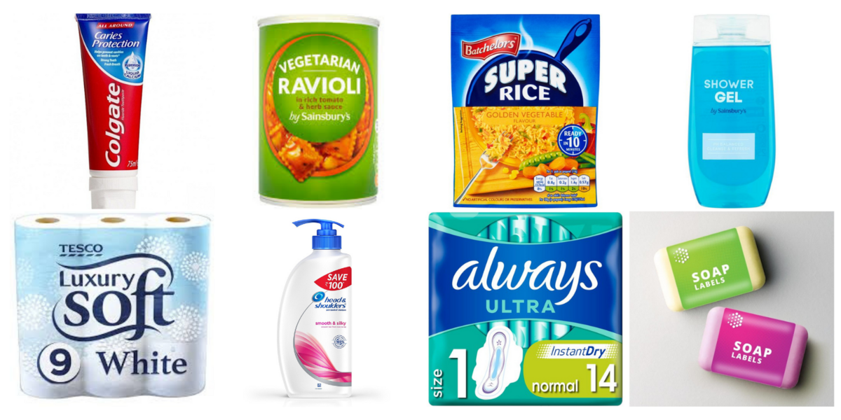 toothpaste, loo roll and showergel shortages