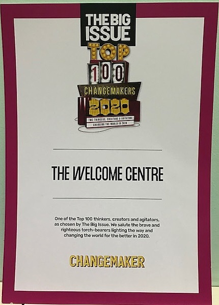The Big Issue top 100 change makers award