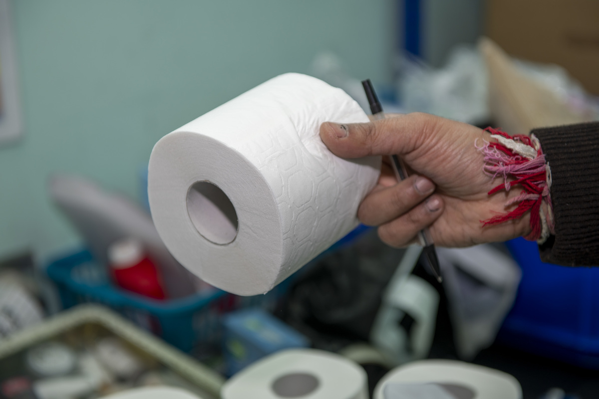 Buy toilet roll for our packs
