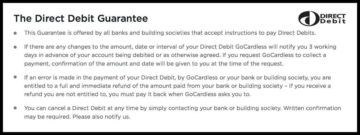 Direct Debit Guarantee