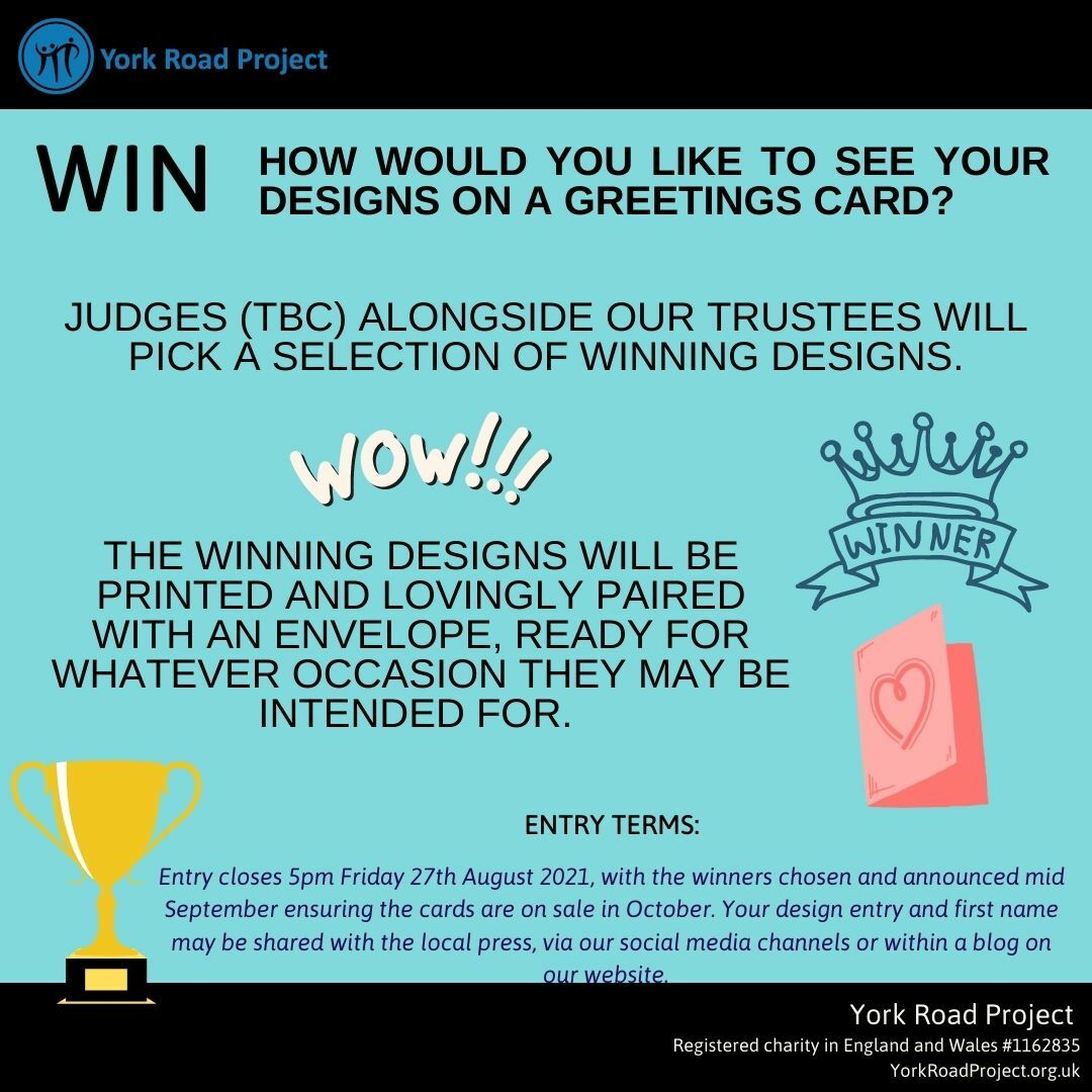 Your design on a greetings card for charity