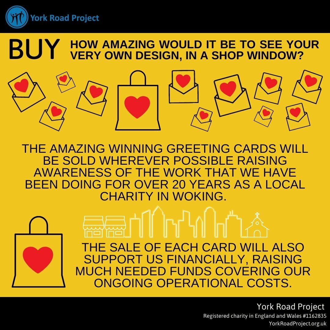 Buy your own designs on a card for charity
